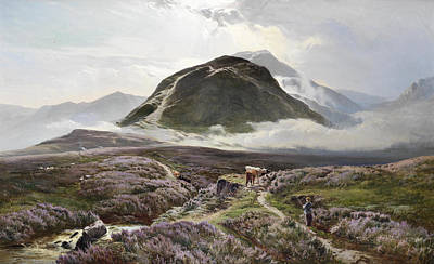 Ben Nevis Painting - Carn Dearg And Ben Nevis From Achintee by MotionAge Designs