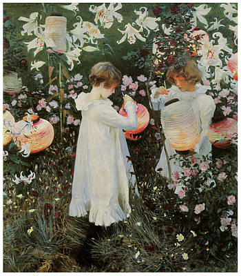 Carnation Lily Lily Rose Print by John Singer Sargent