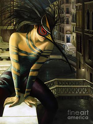 Mysterious Women Painting - Carnavale Venezia by Jane Whiting Chrzanoska