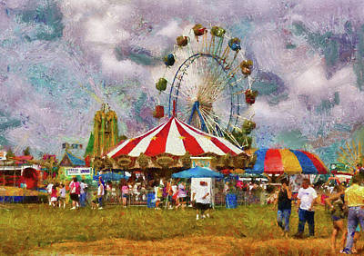Carnival - Look At All The Excitement Print by Mike Savad