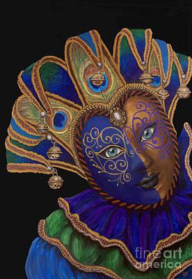 Carnival Peacock Jester Print by Patty Vicknair