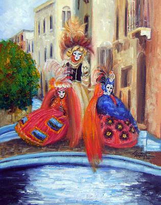 Venice Painting - Carnival Time I by Leonardo Ruggieri