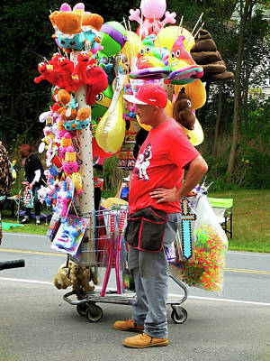 Balloon Vendor Painting - Carnival Vendor 2 by Lanjee Chee