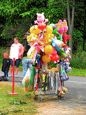 Balloon Vendor Painting - Carnival Vendor 3 by Lanjee Chee