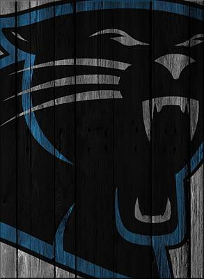 Caroilina Panthers Wood Fence Print by Joe Hamilton