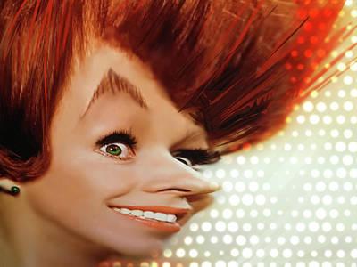 Red Head Mixed Media - Carol Burnett by Russell Pierce