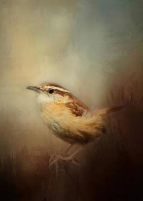 Carolina Wren Digital Art - Carolina Wren In The Brush by TnBackroadsPhotos