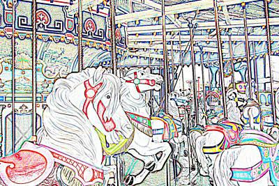 Carousel At Wonderland Print by Kevin  Sherf