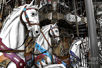Antique Carousel Photograph - Carousel Fusion by John Rizzuto