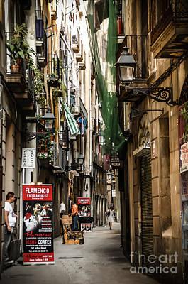 Barcelona Photograph - Carrer D'en Roca Barcelona by RicardMN Photography