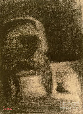 Carriage And Dog Print by Georges Pierre Seurat