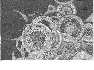 Cosmic Drawing - Carrier Mechanics  by Bobby Hermesch