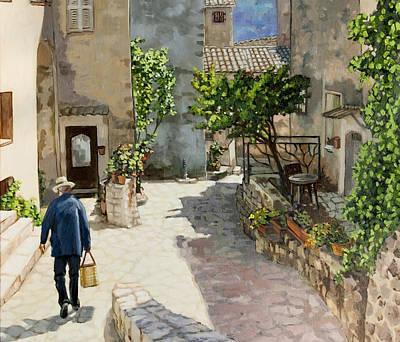 Painting - Carriero Du Poutegue Horizontal View by Dominique Amendola