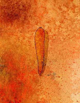 Carrot Mixed Media - Carrot by Paul Gaj