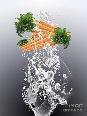 Carrot Splash Print by Marvin Blaine