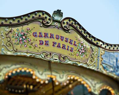 Carrousel De Paris Print by Melanie Alexandra Price