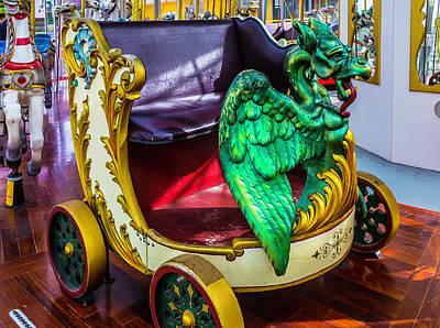Dragon Photograph - Carrousel Dragon Ride by Garry Gay