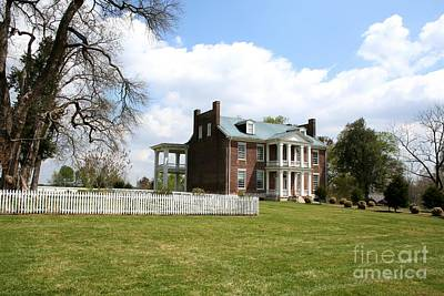 Carnton Plantation Photograph - Carter House And Carnton Plantation by John Black