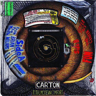 Drawing - Carton Album Cover Artwork Backside by Richie Montgomery