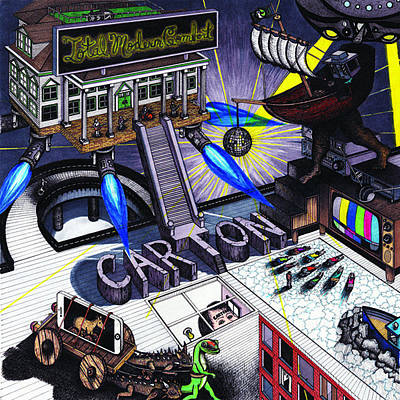 Drawing - Carton Album Cover Artwork Front by Richie Montgomery