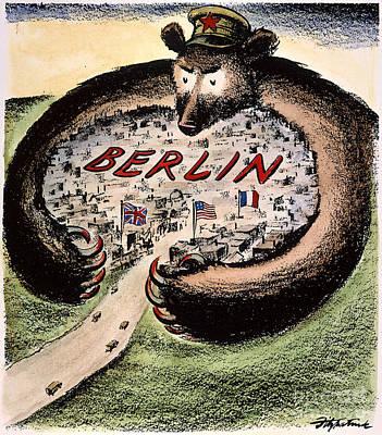 Cartoon: Cold War Berlin Print by Granger