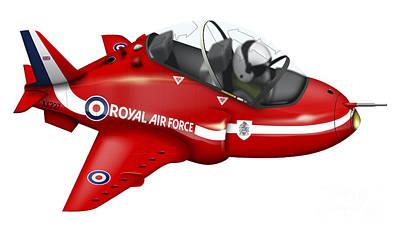 Cartoon Illustration Of A Royal Air Print by Inkworm