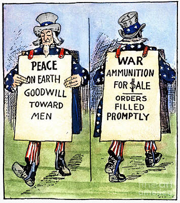 Cartoon: U.s. Neutrality Print by Granger