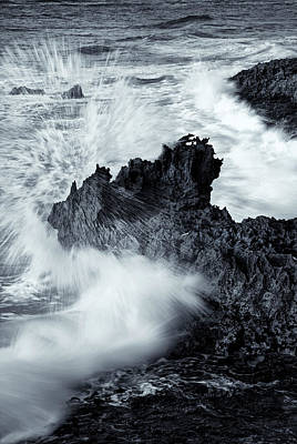 Carved By The Sea Print by Mike  Dawson