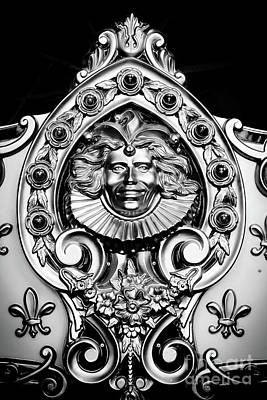 Woodcarving Photograph - Carved Carousel Figurehead by Colleen Kammerer