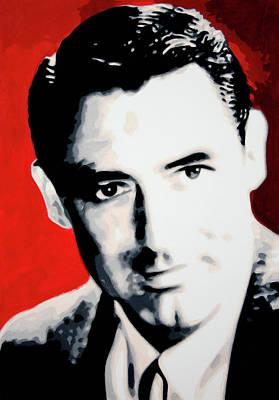 Cary Grant Print by Luis Ludzska