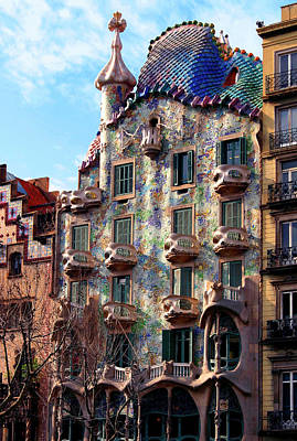 Tile Photograph - Casa Batllo by Vincent Abbey