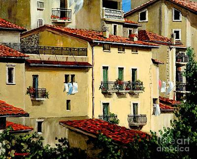 Tuscan Dusk Painting - Casa Del Sol by Michael Swanson