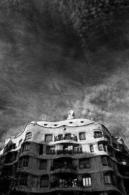 Barcelona Photograph - Casa Mila by Dave Bowman