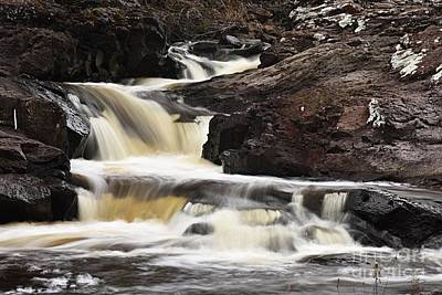 Two Islands Photograph - Cascade On The Two Island River by Larry Ricker