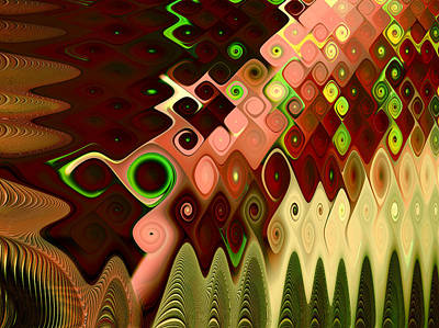 Abstract Digital Digital Art - Cascade by Vicky Brago-Mitchell