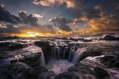 Holes Photograph - Cascades Of Kauai II by Todd Kawasaki