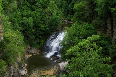 Cascadilla Waterfalls Cornell University Ithaca New York 02 Print by Thomas Woolworth
