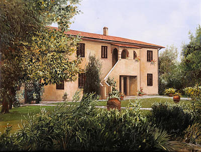 Country House Painting - Cascina Toscana by Guido Borelli