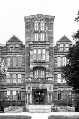 Case Western Reserve University Adelbert Hall Print by University Icons