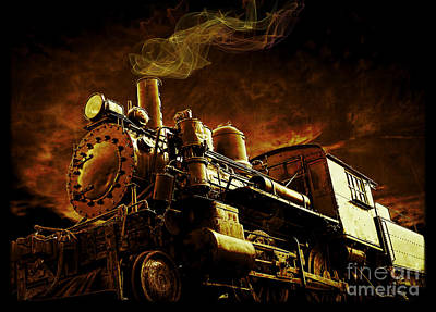 Express Photograph - Casey Jones And The Cannonball Express by Edward Fielding