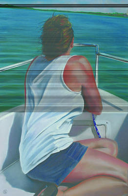 Paul Autodore Artist Pastel - Casey Key by Paul Autodore