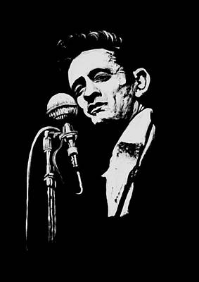 Johnny Cash Painting - Cash T Shirt Print by Melissa O'Brien