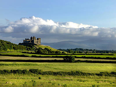 Cashel Castle On The Rock Of Cashel Print by Chris Hill