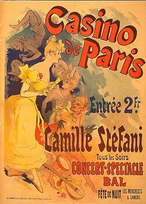 Casino De Paris French Advertising Poster Print by Joy of Life Art