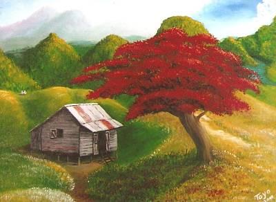 Casita Painting - Casita Feliz by Toyo Perez