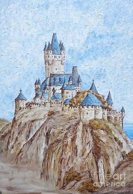 Sand Castles Painting - Castle On The River Rhine by Birgit Moldenhauer