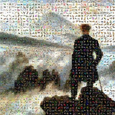 Caspar Digital Art - Caspar David - The Wall Above The Sea Of Fog by Gilberto Viciedo