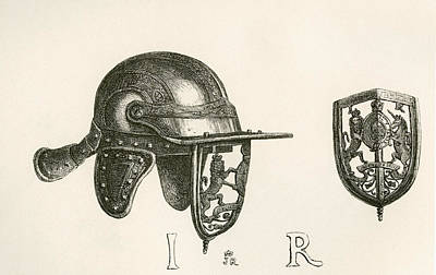 Casque Of King James II With Cheek Print by Vintage Design Pics