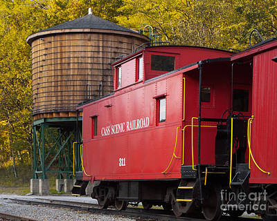 Old Caboose Digital Art - Cass Railroad Caboose by Jerry Fornarotto
