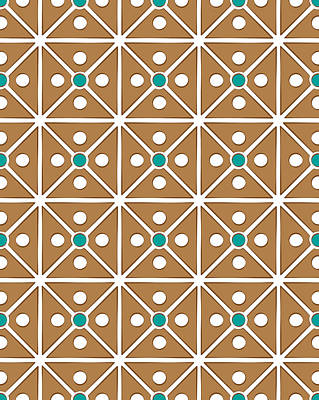 Cassette Brown Abstract Pattern Print by Jozef Jankola